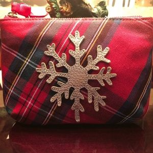 NWT Talbots Plaid Holiday Bag
